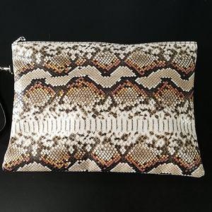 Handbags - Faux Snakeskin Wristlet NEW